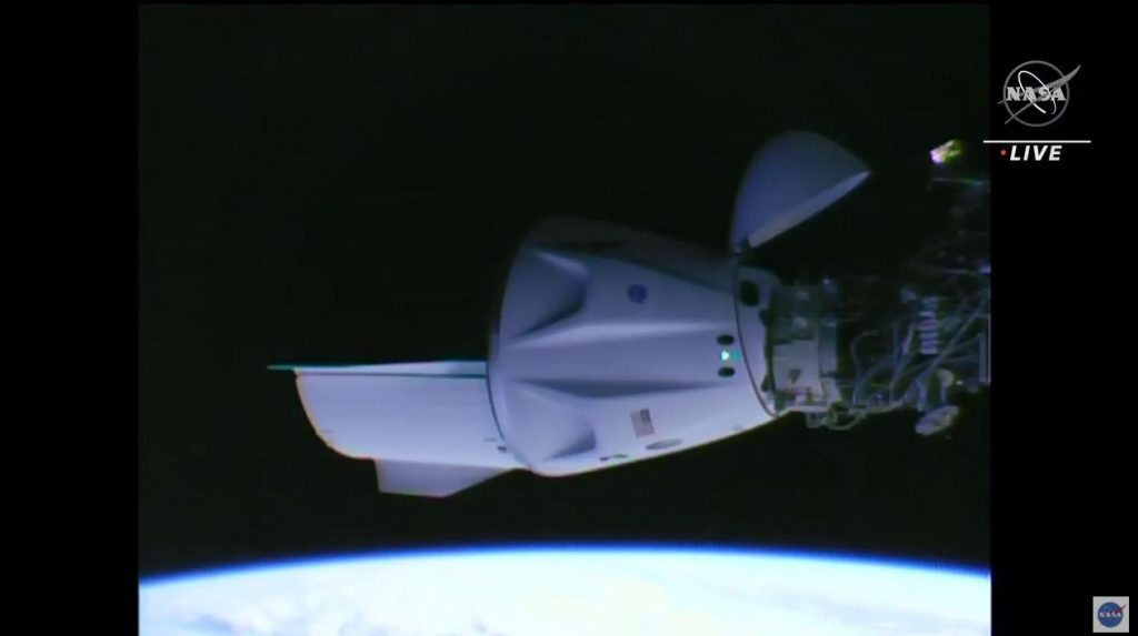 """The """"Crew Dragon"""" capsule has arrived safely at the International Space Station"""