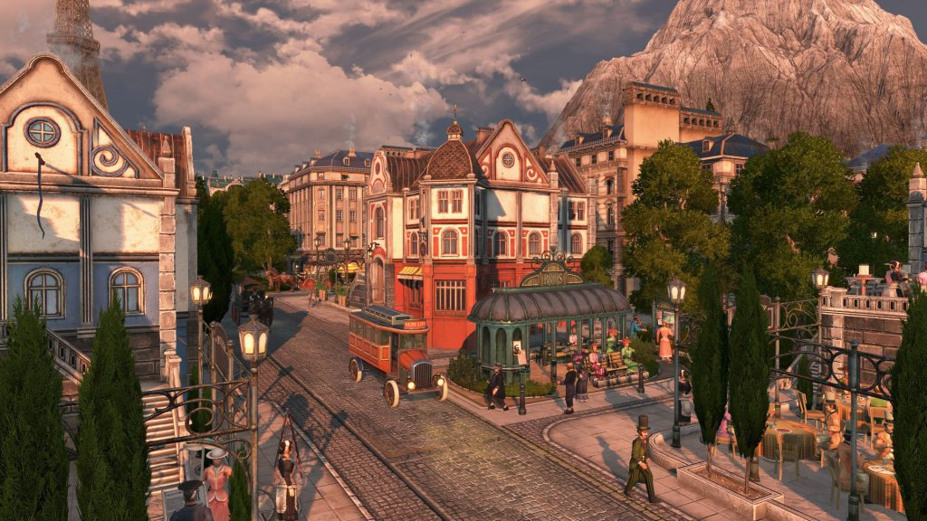 Triggering tourists via Anno 1800 on the bus