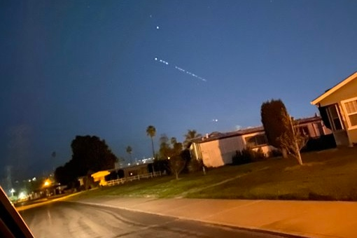 Why can we see strange bright lights in the sky tonight in the San Francisco Bay Area?