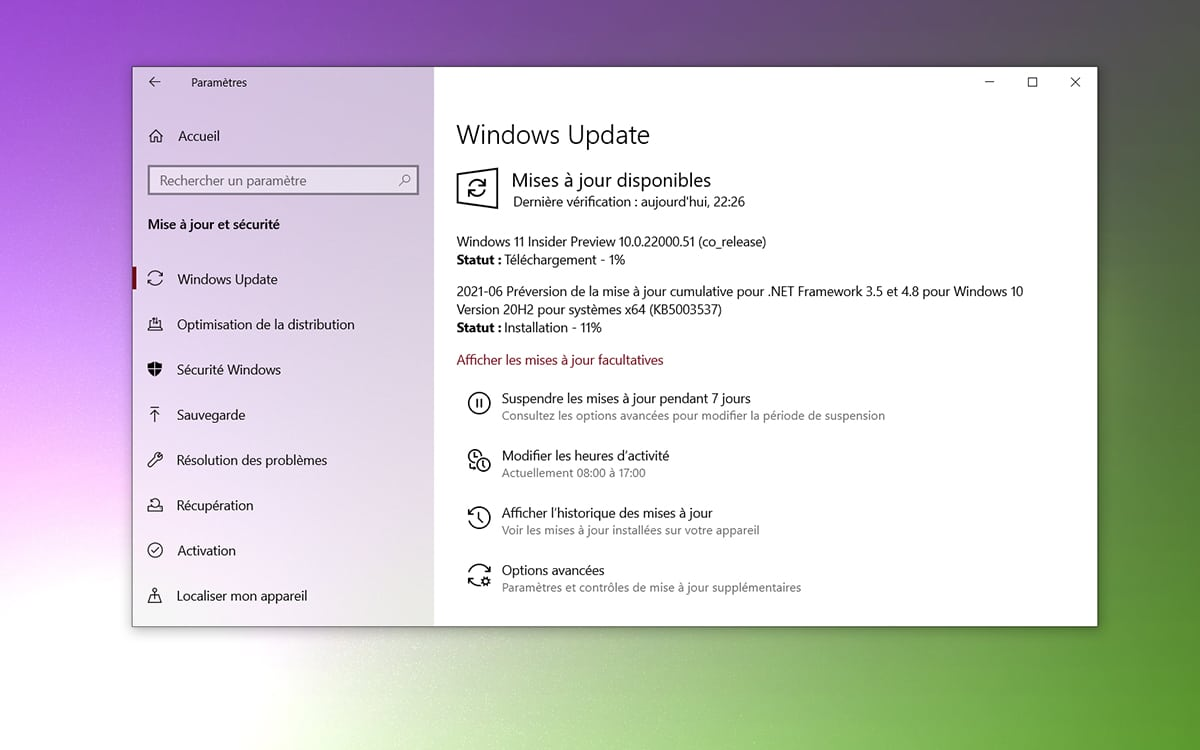 Windows 11 built-in update