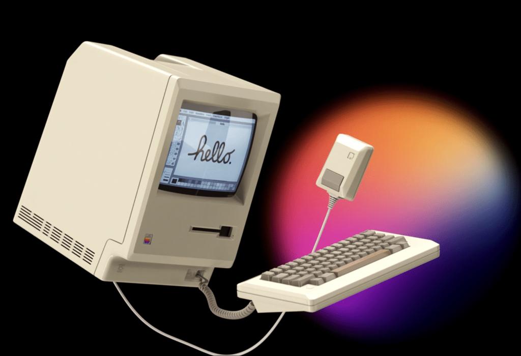 Designer 1984 Macintosh - Creates modern business for MacMagazine.com.br