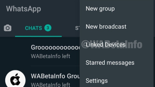 The screen shot shows what the multi-device menu looks like in beta.