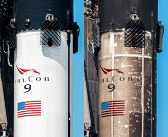 P1060 before its first launch in 2020 compared to the current state of the rocket