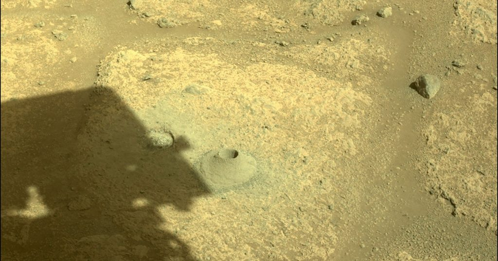 Diligence digs the first hole on Mars - and comes with emptiness