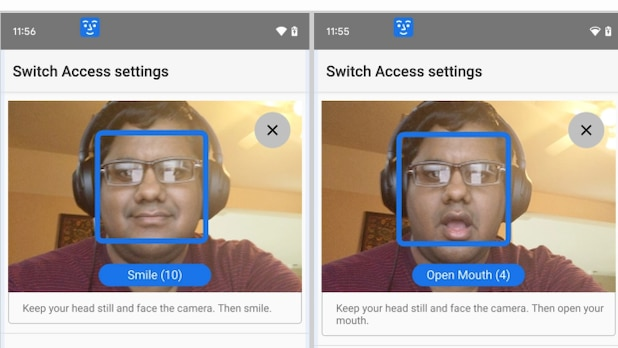 Android feature: You can control the smartphone using different facial expressions.