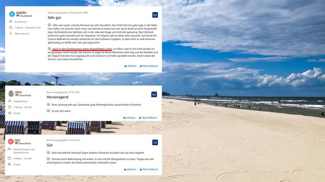 Online reviews: this is how absurdly ranked hotels in Usedom and Rügen