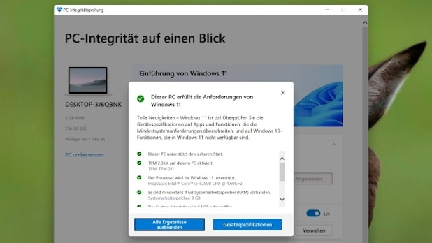 The first thing you need to do is check if your computer meets the Windows 11 hardware requirements